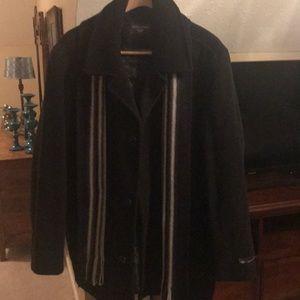 Men's Dockers Short Black Dress Coat XL